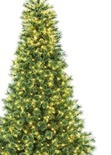 7' Pre-Lit Artificial Christmas Tree, Deluxe Cashmere with Clear Lights