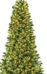 7.5' Pre-Lit Artificial Christmas Tree, Deluxe Full Cashmere with Clear Lights