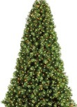 7.5' Pre-Lit Artificial Christmas Tree, Deluxe Cashmere with Clear Lights