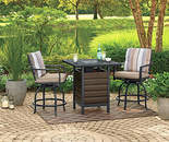 Bayshore 3-Piece High Top Bistro Fire Pit Set