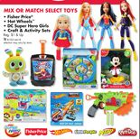 BUY ONE GET ONE 50% OFF SELECT TOYS