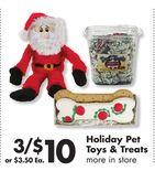 Holiday Pet Toys & Treats