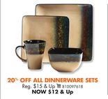 ALL DINNERWARE SETS
