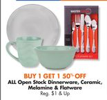 ALL Open Stock Dinnerware, Ceramic, Melamine & Flatware