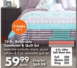 Project Runway 10 Pc. Reversible Comforter & Quilt Set