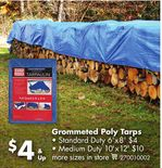 Grommeted Poly Tarps