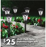 Multi-Pack Solar Pathway Light Sets
