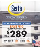Serta QUEEN MATTRESS SET
