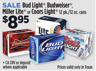Dollar General~ Bud Light, Budweiser, Miller Lite Or Coors Light 12pk/12oz  Cans $8.95ea. Design Ideas