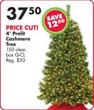 4' Pre-Lit Artificial Christmas Tree with Clear Lights