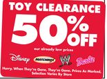 Toy Clearance - Up to 50% Off Already Low Prices
