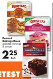 Dessert Baking Mixes