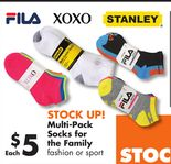 Multi-Pack Socks for the Family