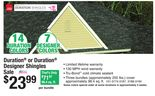 Owens Corning Duration® or Duration® Designer Shingles