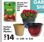 "12"" Fashion Plastic Planters"