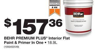 BEHR PREMIUM PLUS® Interior Flat Paint U0026 Primer ...