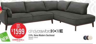 Cindy Crawford Home Quinn Swivel Leather Look Fabric Power