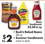 • Bush's Baked Beans 28 oz. • Summer Condiments