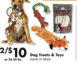Dog Treats & Toys