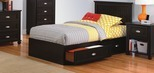Ameriwood™ Twin Mates Dark Russet Cherry Storage Bed