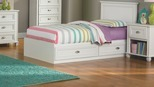 Ameriwood™ Twin Mates Federal White Storage Bed