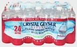 Crystal Geyser® Natural Alpine Spring Water, 24-Pack