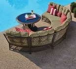 4 Pc. Capri Resin Wicker Curved Seating Set