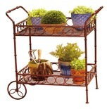 2 Tier Metal Plant Cart