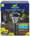 Wilson & Fisher Bronze Solar Path Light Set, 10-Pack