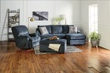Judson Slate Blue Sofa with Reversible Chase
