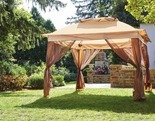 Wilson & Fisher Tan Pop Up Canopy with Netting, (11' x 11')