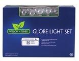 Multi-Color Globe Light Set, 50-Count