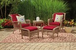 Wilson & Fisher Lakeview Resin Wicker 5-Piece Patio Chat Set