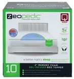 Zeopedic Gel Memory Foam Mattress In A Box