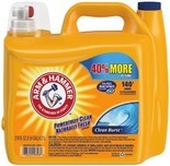 Arm & Hammer™ Laundry Detergent liquid 210 oz., 140 loads - 97 ct. power packs, Lysol® 4 Pk. Disinfecting Wipes