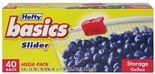 Hefty® Basics™ Zipper or Slider Storage Bags