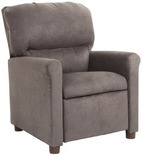 Simmons Charcoal Gray Kids Recliner