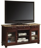 """Just Home 60"""" Espresso 2-Door TV Stand"""