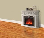 """62"""" Grand White Electric Fireplace"""