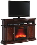 """60"""" Cherry Console Electric Fireplace"""
