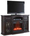 "60"" Walnut Console Fireplaces"