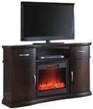 "60"" Espresso Media Electric Fireplace"