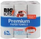 • Paper Towels 6 big rolls or 8 rolls • 12 Double Roll Bathroom Tissue