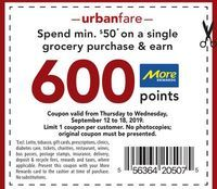 Coupon: Save Spend min $50* on a single grocery purchase