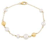 Belk & Co. Women Fresh Water Pearl Bead Bracelet In 10K Yellow Gold - Yellow Gold - 7.25 In. Deal in Houston