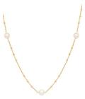 Belk & Co. Women Fresh Water Pearl Necklace In 10K Yellow Gold - Yellow Gold - 18 In. Deal in Houston