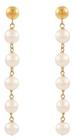 Belk & Co. Women Fresh Water Pearl Beaded Drop Earrings In 10K Yellow Gold - Yellow Gold Deal in Houston