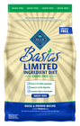 BLUE Basics® Limited Ingredient Grain Free Adult Dog Food - Duck and Potato size:4 Lb Deal in Houston