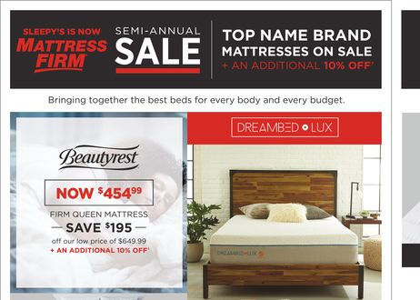 semiannual sale - Sleepy Mattress