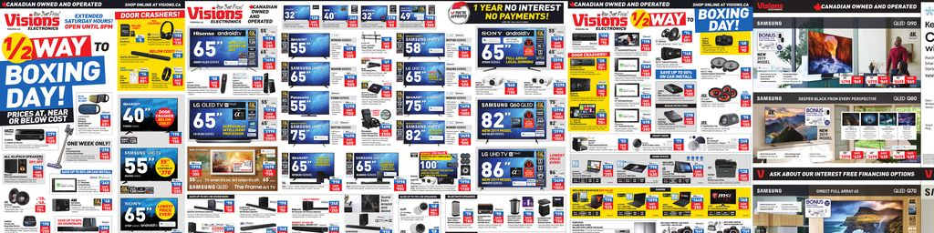 Visions Electronics Halfway To Boxing Day in Toronto